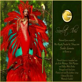 Ghee Scarlet Ibis Gown